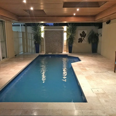 Roma Travertine - French pattern Pool Pavers