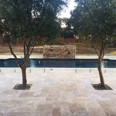 Cappuccino French Travertine Pool Pavers
