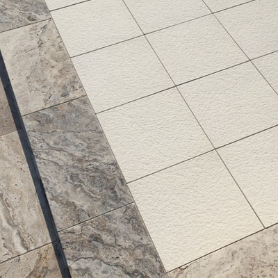 Ice Ridge & Ibiza Travertine Pavers