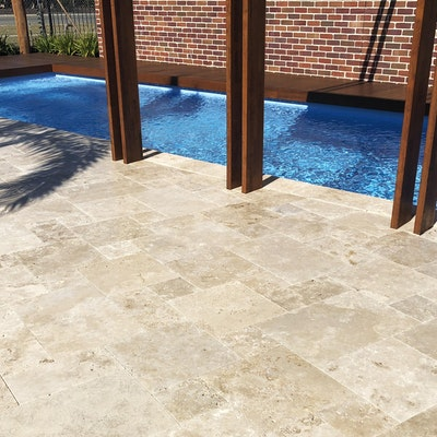 French Travertine Pool Pavers