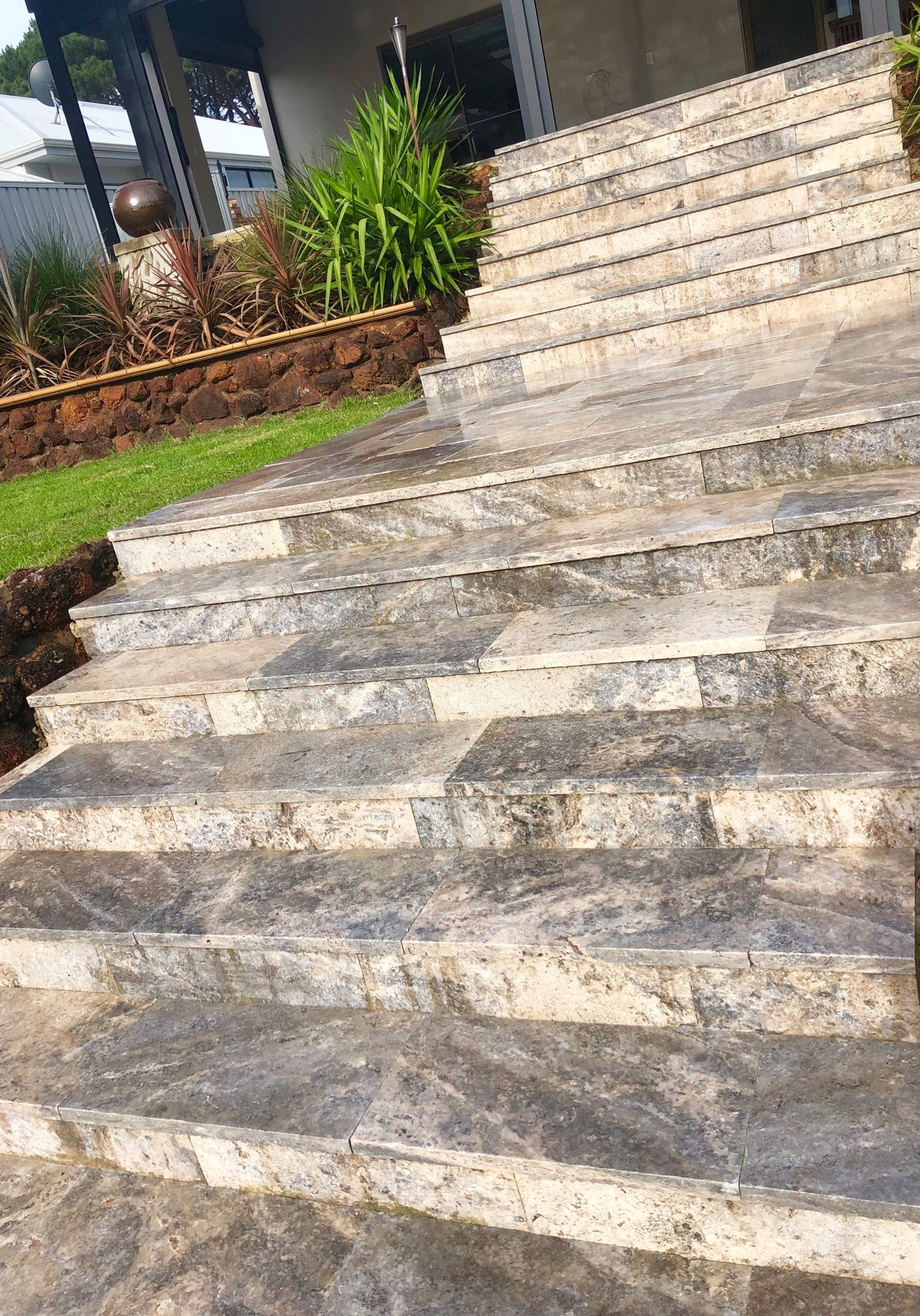Atlantis Travertine Capping for Stairs