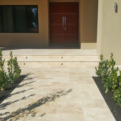 Roma Travertine French Pattern Pavers