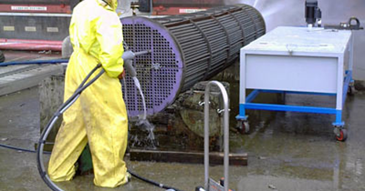 how to clean out heat exchanger