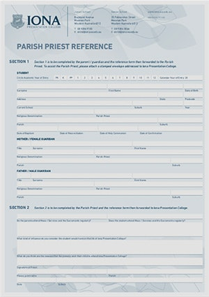 Iona Parish Priest Form cover