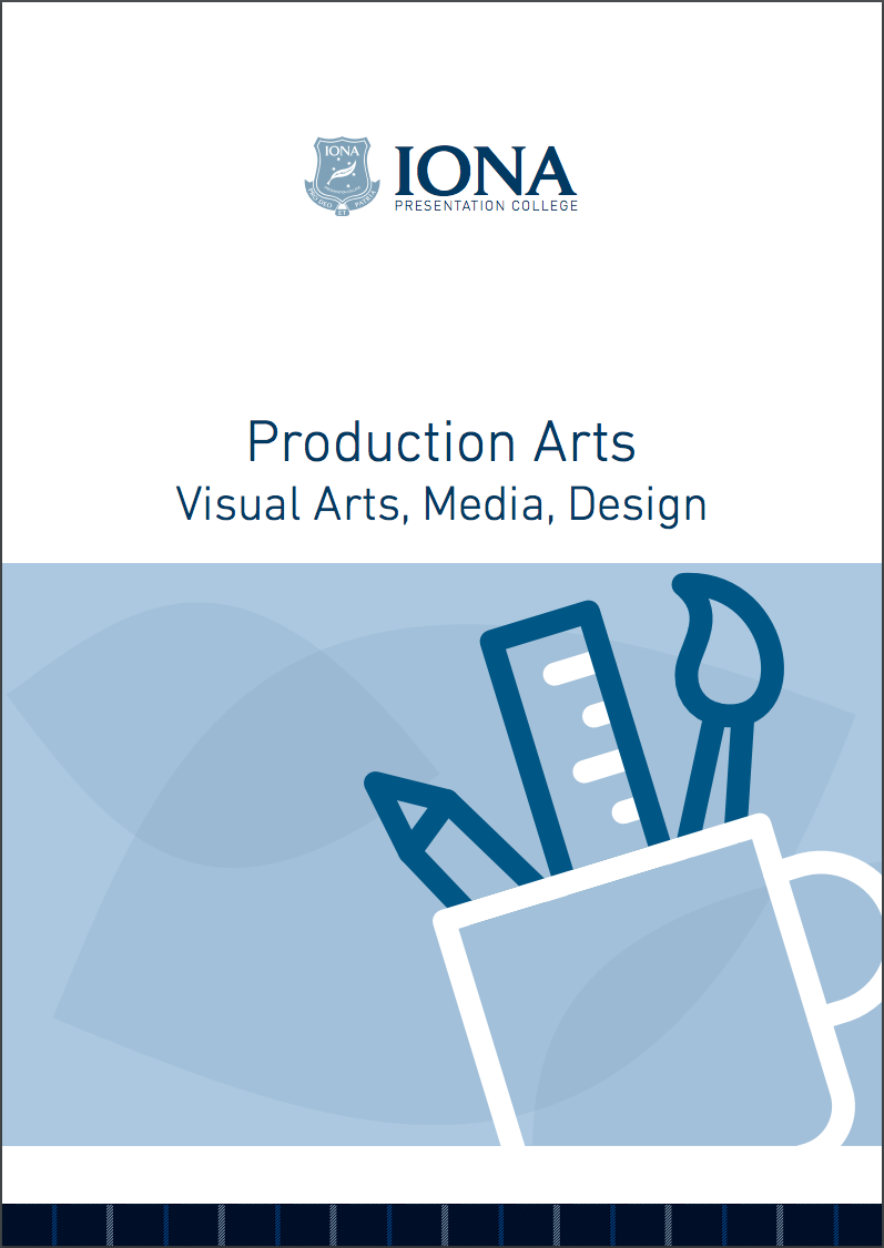 Read the Production Arts Learning Area Booklet 2017