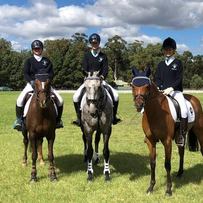 Rebecca Curran, Jaime Baker & Shania Benbow at the 2018 Interschool Championships