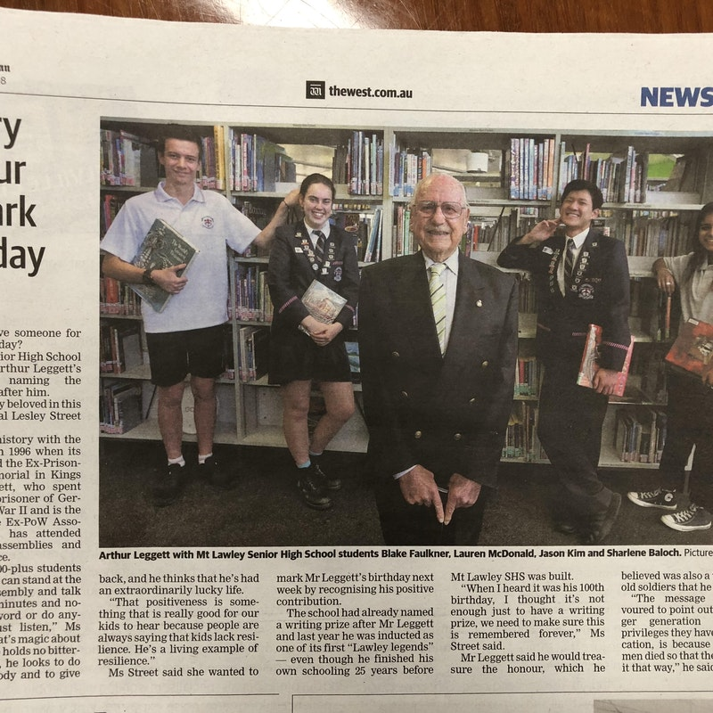 'The West' newspaper article - Monday, 27 August 2018