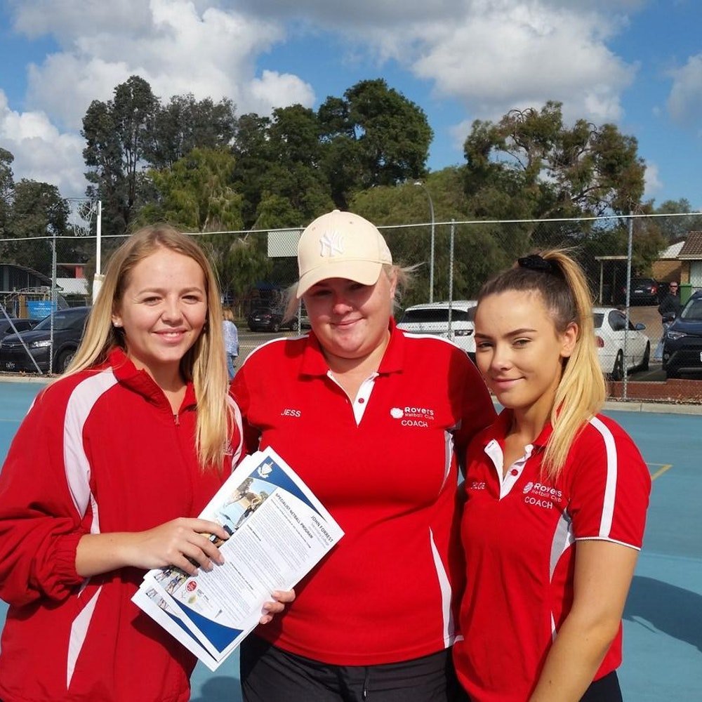 Emily Anderson, Jessica Orchard and Chloe Bradshaw ex-JFSC Netball students now community coaches. Their commitment, effort and expertise are greatly appreciated.