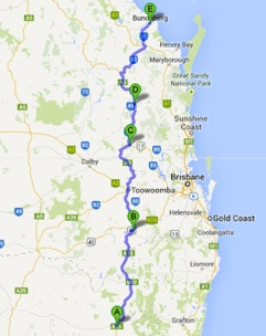 Black Dog Ride Around Australia Day 2 Itinerary