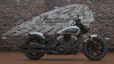 Black Dog Ride 1 Dayer's awesome registration incentive - An Indian Scout Bobber!