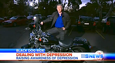 Simon Bouda reporting on the Black Dog Ride to the Red Centre 2012