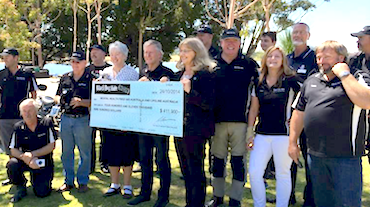 Black Dog Ride 2014 Cheque Presentation to MHFA