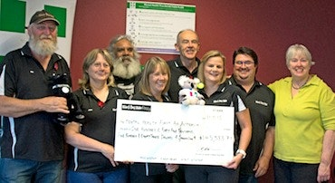 Black Dog Ride 2015 Cheque Presentation to MHFA