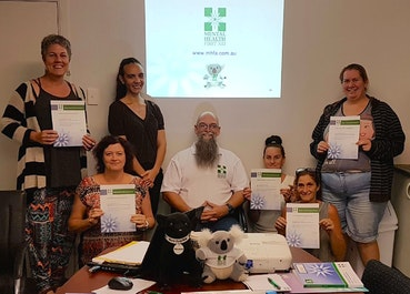 Black Dog Ride's First Aboriginal Mental Health First Aid Instructor Adair Williamson's first class