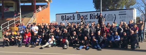 Black Dog Ride to the Red Centre 2015 - Semi at Dubbo