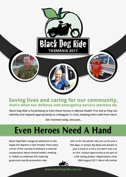 Black Dog Ride to Tasmania 2017 Flyer