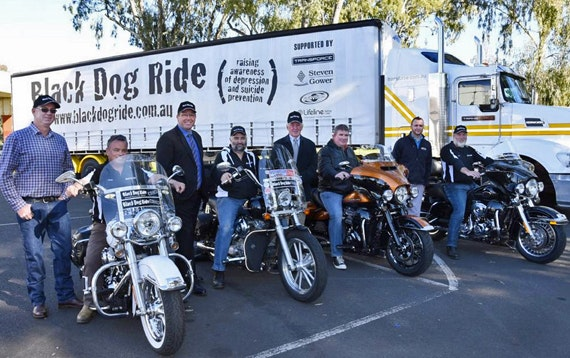 Black Dog Ride's Big Rig to Sweep Stigma Away Photo by Belinda Soole