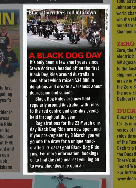 Black Dog Ride 1 Dayer Media Australian Road Rider