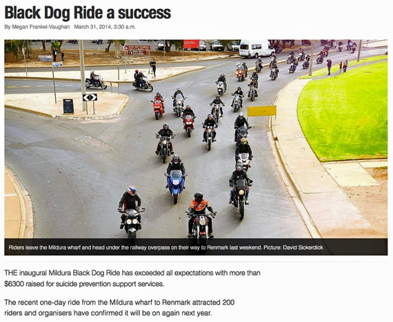 Black Dog Ride 1 Dayer Media 2014 Mildura
