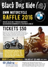 Black Dog Ride's 2016 BMW Raffle Poster Preview