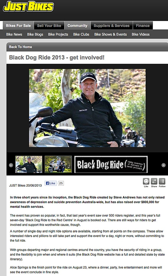 Just Bikes Gives Black Dog Ride A Shout Out