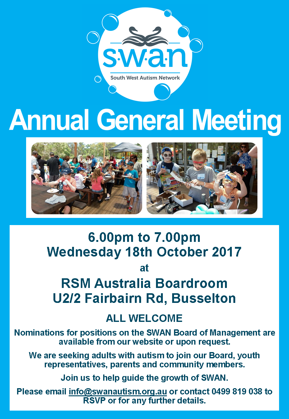 Poster image of SWAN AGM Flyer 2017